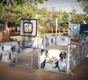 Parcours acrobatique pour enfants - Surface de jeux entre 50 et 200 m²
