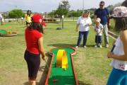Parcours Mini Golf transportable - Longueur : 3,33 m, Largeur : 0,59 m, Cercle : Ø 0,935 m