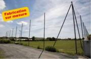 Pare ballon pour terrain - Poteaux en acier galvanisé  -  Diamètres 60 à 114 mm