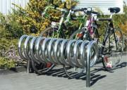 Parking vélos en inox - Capacité : 5 vélos