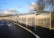 Passage couvert à toit arrondi - Largeur : 1,50 ou 2 ou 2,5 ou 3 m -  Traité anti-UV