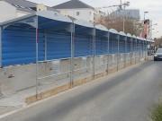 Passage couvert pour chantier 2400 x 1500 mm - Dimensions (L x l x H) mm : 2400 x 1200 x 2250 - 2400 x 1500 x 2285