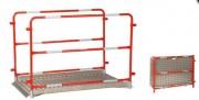 Passerelle aluminium de tranchée - Plancher aluminium antidérapant - Charge maxi de 200 kg -
