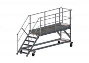 Passerelle d'accès bennes - Structure aluminium (mm) : 100 x 30