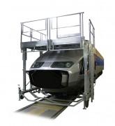 Passerelle d'accès nez TGV - En aluminium - Réglable en hauteur
