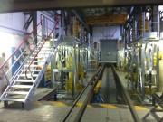 Passerelle d'accès rames de train - Longueur totale du hall : 35 mètres