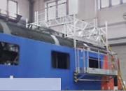 Passerelle d'accés toit train - Réglable de 3,46 à 4,46 mètres - Surface de 18 m²