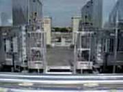 Passerelle d'accès tour de refroidisseurs - Passerelle de chantier bardée anti-affiche