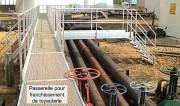 Passerelle de franchissement de tuyauteries - Structure mécanosoudée