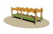 Passerelle de jeu pour enfants - Dimensions (L x P x H) cm : 300 x 76 x 108