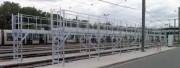 Passerelle de nettoyage extérieure pour tram - Passerelle pour nettoyage de véhicules de transport en commun