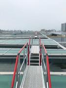 Passerelle et escaliers de cheminement sur toiture - Marches de 80, 180, 230, 261 ou 316