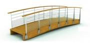 Passerelle garde corps inox - Longueur : de 6 à 12 m - Largeur : 1,5 m