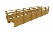 Passerelle piétonne bois - Longueur : de 3 à 15 mètres