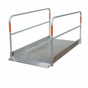 Passerelle piétons en aluminium - Pont piétons - Capacité de charge : 200 kg/m2