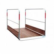 Passerelle piétons en bois - Pont piétons - Capacité de charge : 150 kg/m2