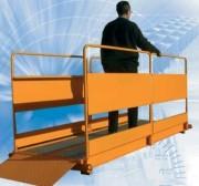 Passerelle piétons pour chantiers - Dimensions (L x l x H) mm : 1300 x 3000 x 4000 ou 1300 x 4000 x 5000