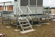 Passerelle pour accès groupe froid en toiture - Charge maxi : 150 kg/m²