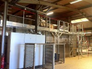 Passerelle toiture four de séchage - En aluminium - Pour opération de maintenance