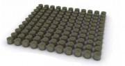 Pavés bois ronds - Dimensions : 1 m2