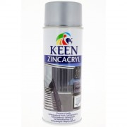 Peinture aérosol KEEN galvanisation à froid zinc satin - Contenance : 400 ml - Couleur : Zinc satin - Zinc alu