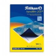 PELIKAN Pochette de 10 films bleues carbone A4 Plenticopy pour écriture main, dos ciré - Pelikan