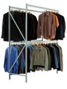 Penderie porte cintres 2 niveaux - 2 niveaux par vêtement - Double accès de rangement.