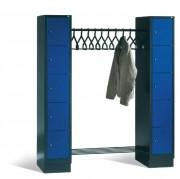 Penderies ouvertes - Dimensions utiles par casier (H x L x P) : 510 x 230 x 465 mm