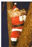 Père Noël grimpeur hauteur 0,40 m - Intérieur et extérieur