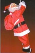 Père Noël grimpeur hauteur 0,90 m - Intérieur et extérieur