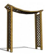 Pergola de jardin en forme d'arche - Dimension (mm) : L 2100 x l 490 x h 2230