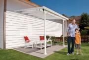 Pergola de jardin en polycarbonate - Dimensions extérieures hors tout (LxPxH) : 420 x 300 x 290 cm