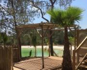 Pergola en eucalyptus - Pergola 3 x 3 m ou 4 x 3 m