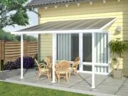Pergola patio - Dimensions extérieures hors tout (L x P x h) cm : 425 x 295 x 260