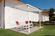 Pergola patio pour terrasse jardin - Dimensions extérieures hors tout (L x P x h) cm : 300 x 300 x 290