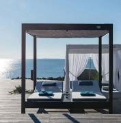 Pergola pour lits de jour - Dimensions (H x l) : 205 x 205 cm - Avec structure pour lits intégrée