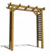 Pergola rectangulaire en bois - Dimensions  (mm) : L 2100 x l 540 x h 2170