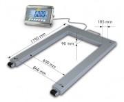 Pèse palettes acier à afficheur inox - Portée maximale kg : 1500