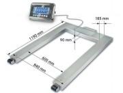 Pèse palettes inox 1500 kg - Portée  maximale : 1500 kg