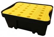 Petit bac de rétention en polyéthylène 10 L - Compatible tous produits dont chimiques - Stockage 10 L