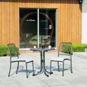 Petite table de jardin carrée - En acier - Dimensions (L x l x h) : 70 x 70 x 74 cm
