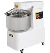 Pétrin à spirale professionnel 15 litres - À tête et cuve fixes - Capacité pâte/heure : 40 kg