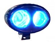 Phare bleu de travail - Optique 2 leds bleues 5w