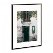 PHOTO ALBUM COMPANY Cadre photo, contour alu noir, plaque transparente incassable, format 42x59 cm - Planorga