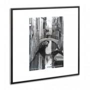 PHOTO ALBUM COMPANY Cadre photo, contour alu noir, plaque transparente incassable, format 59x84 cm - Planorga