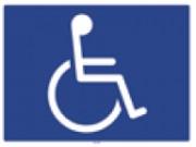Pictogramme handicapé - Dimensions : 20 x 15 cm