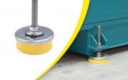 Pied antivibratoire réglable en inox - Charge totale : 500 - 1500 ou 3000 kg