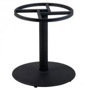Pied de table en fonte noir base ronde - Hauteur :    72 cm