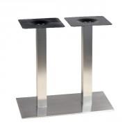 Pied pour table de 4 personnes en inox - Hauteur : 72 cm