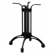 Piètement de table terrasse alu noir - Aluminium - Hauteur : 70 cm